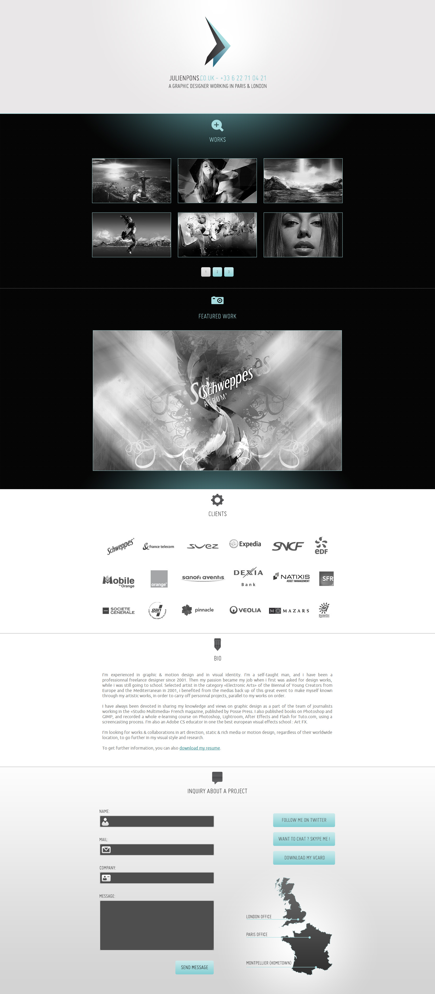 Julien Pons Website Screenshot