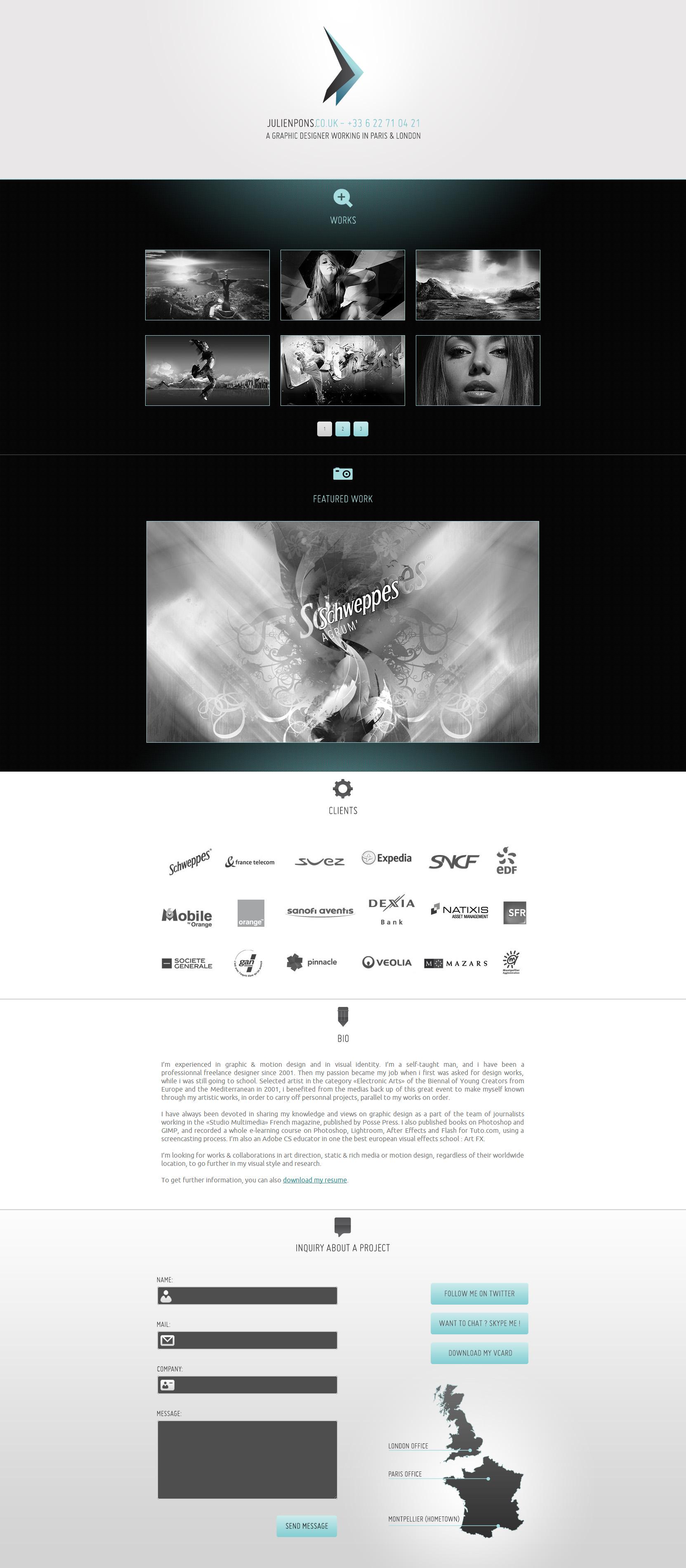 Julien Pons Website Screenshot