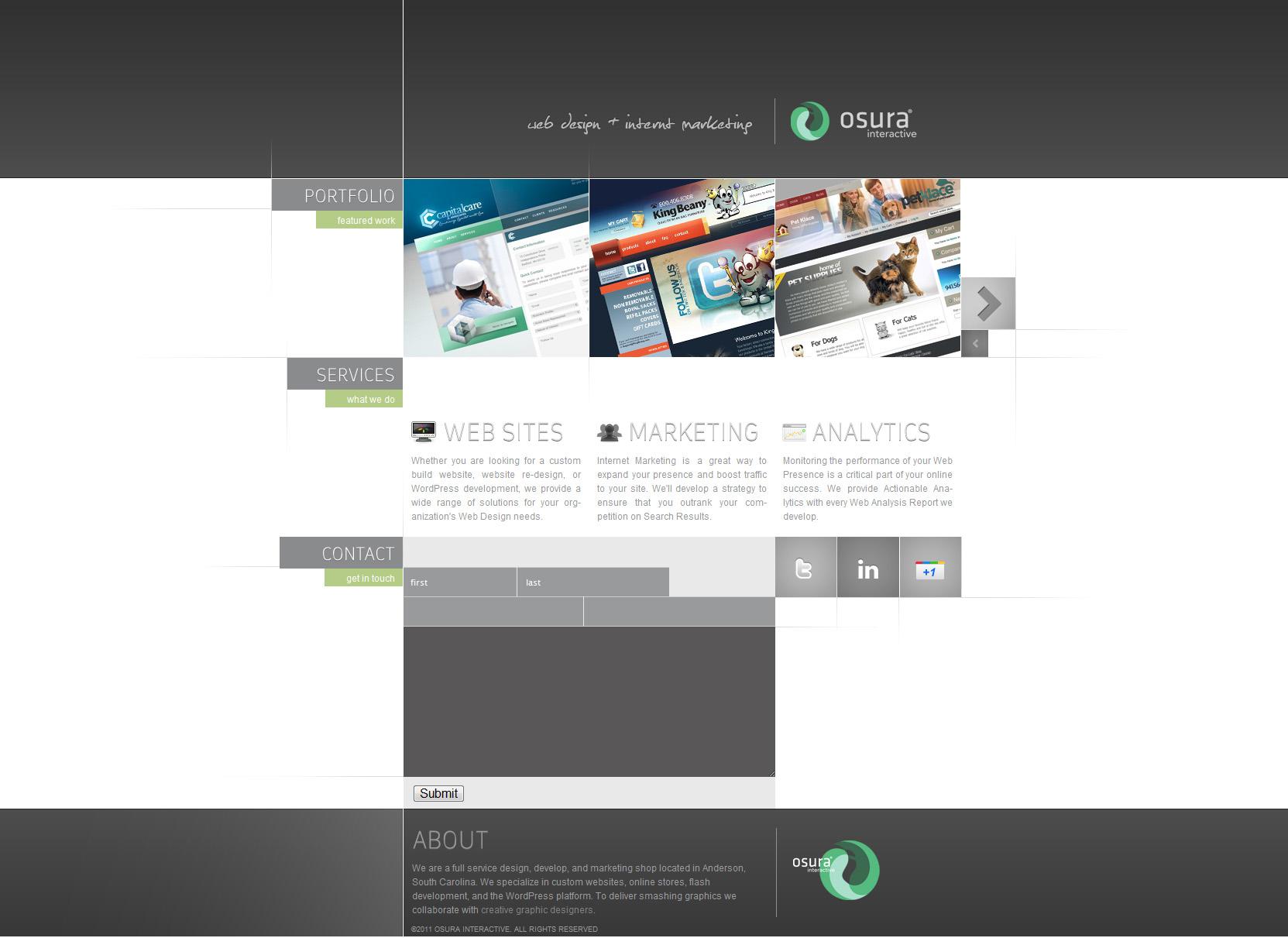 Osura Website Screenshot