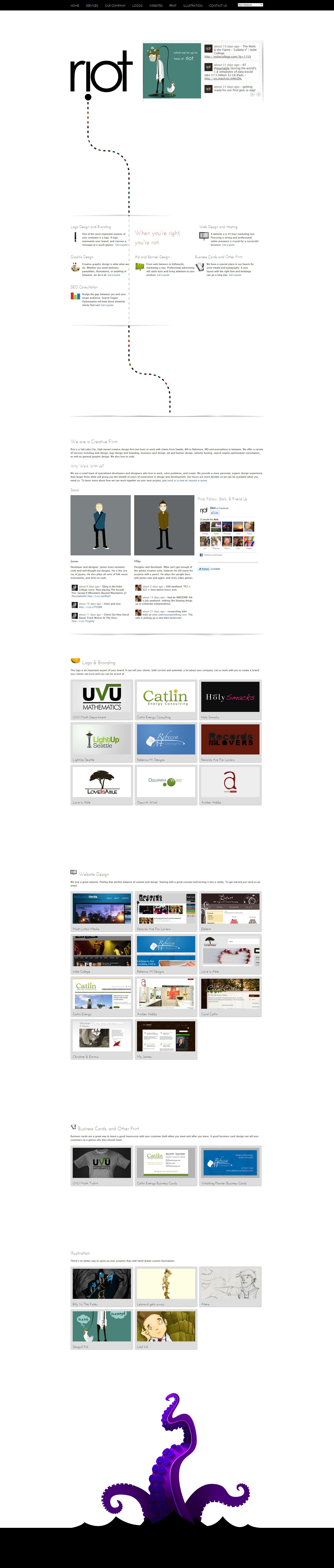 Riot! Website Screenshot