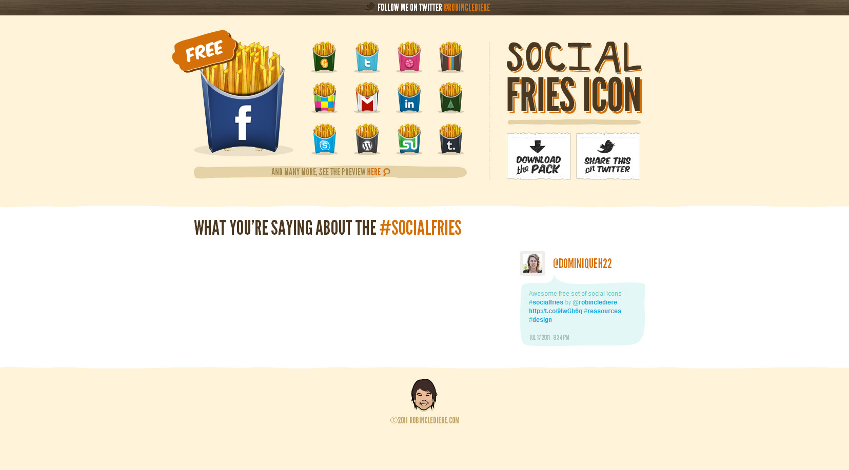 Social Fries Website Screenshot