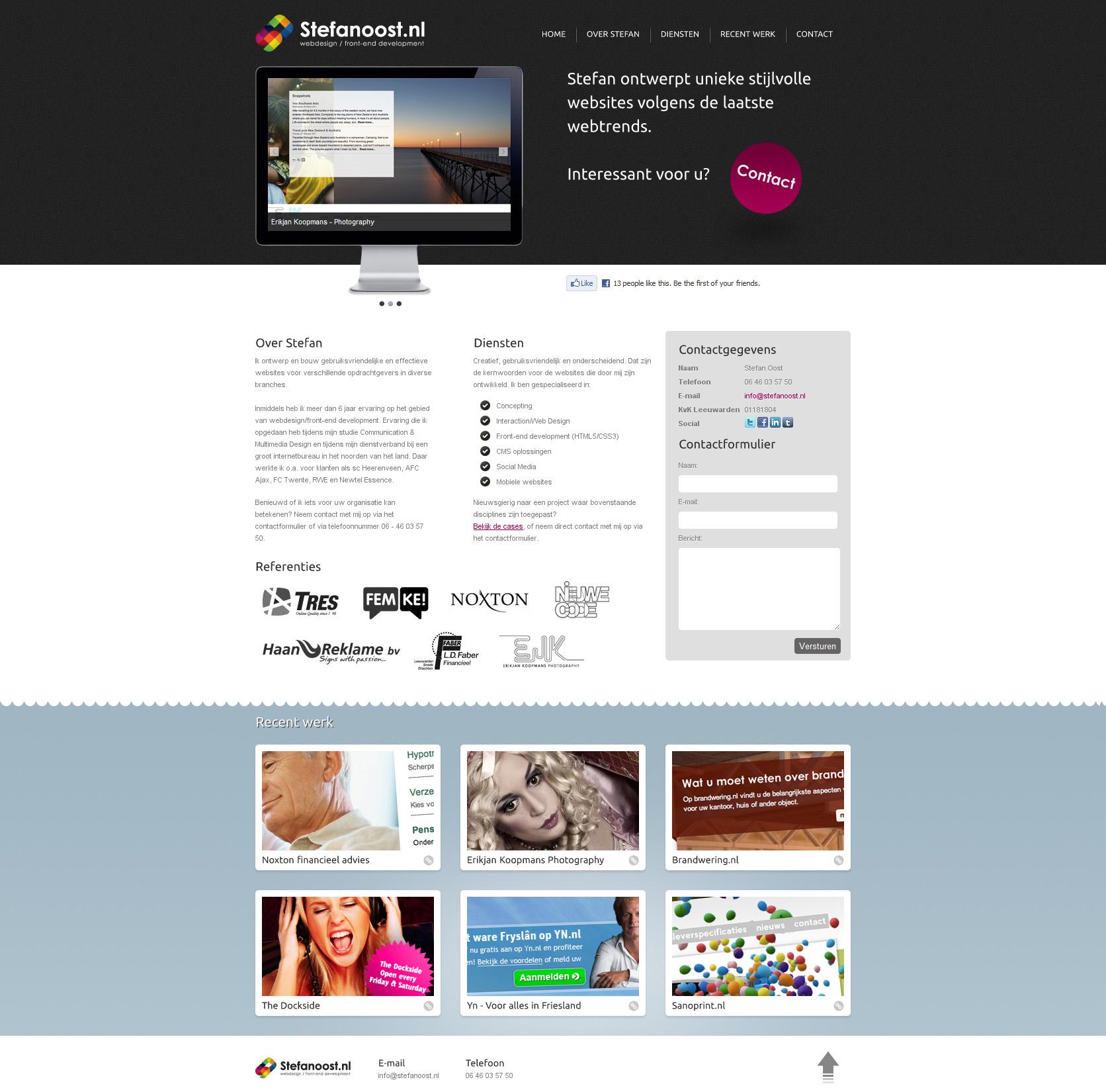 Stefan Oost Website Screenshot