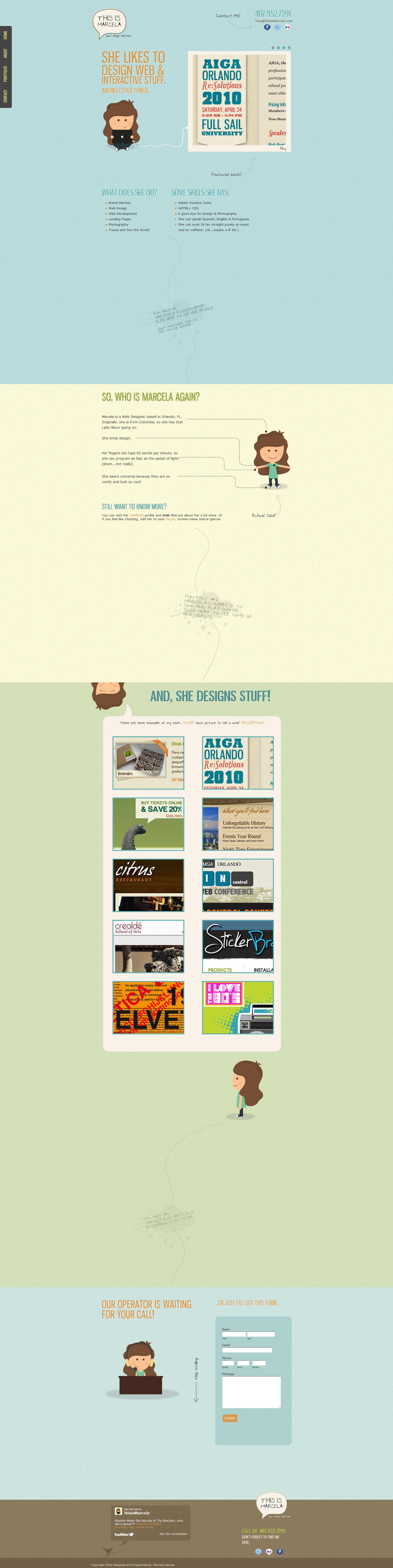 This is Marcela Website Screenshot