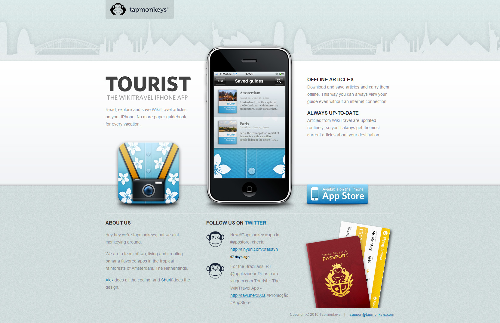 Tourist Website Screenshot