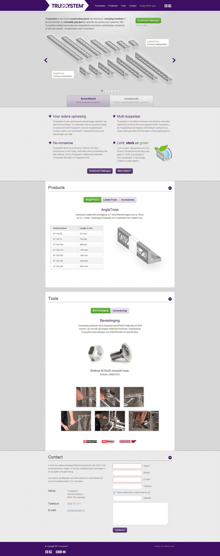 Trussystem Website Screenshot