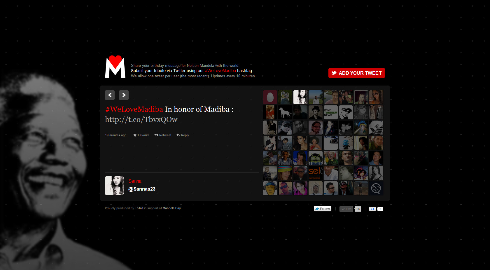 WeLoveMadiba Website Screenshot