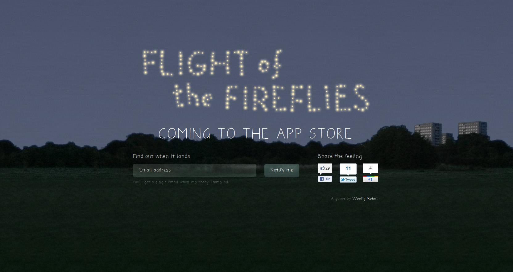 Flight of the Fireflies Website Screenshot