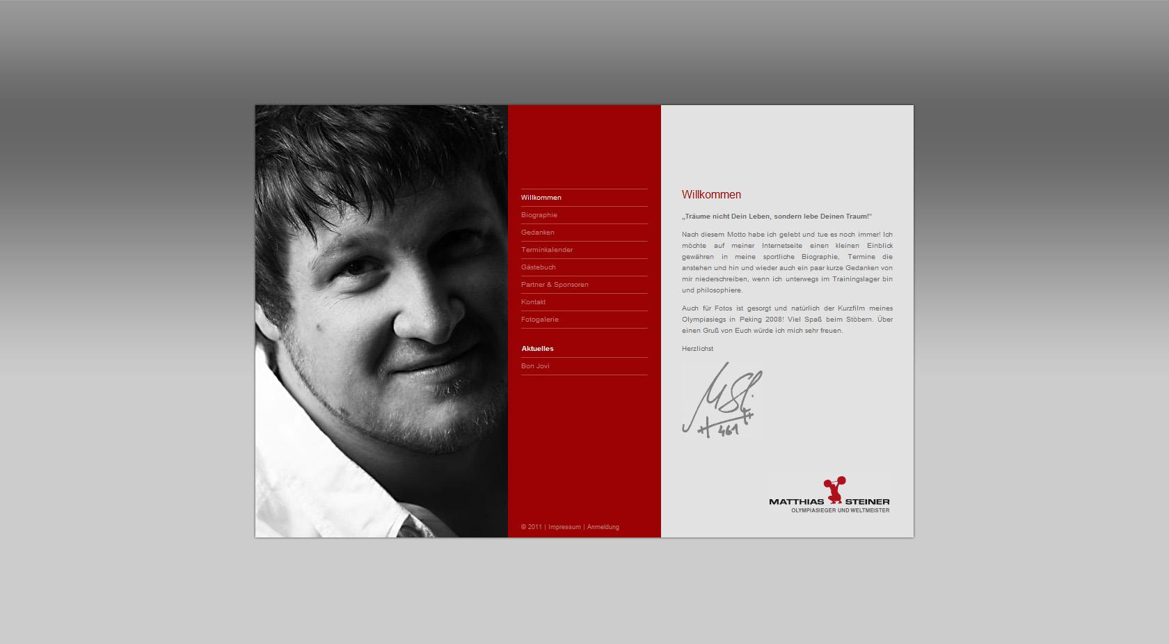 Matthias Steiner Website Screenshot