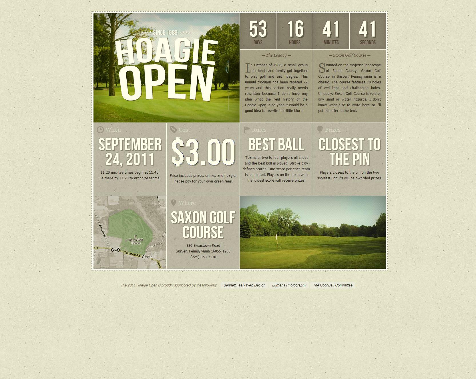 Hoagie Open Website Screenshot