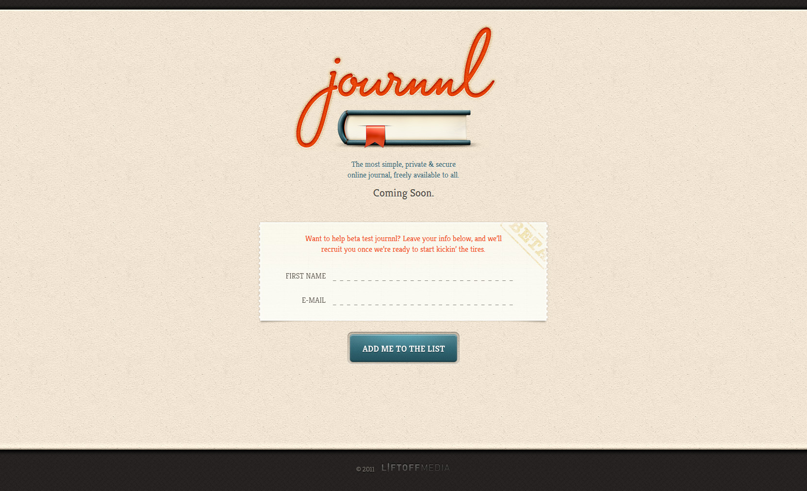 Journnl Website Screenshot