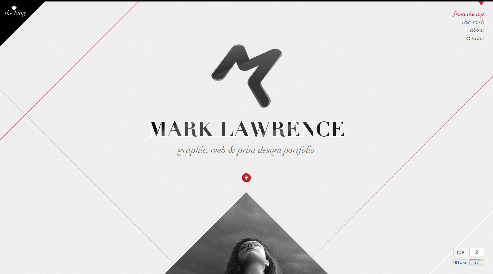 Mark Lawrence Design Website Screenshot