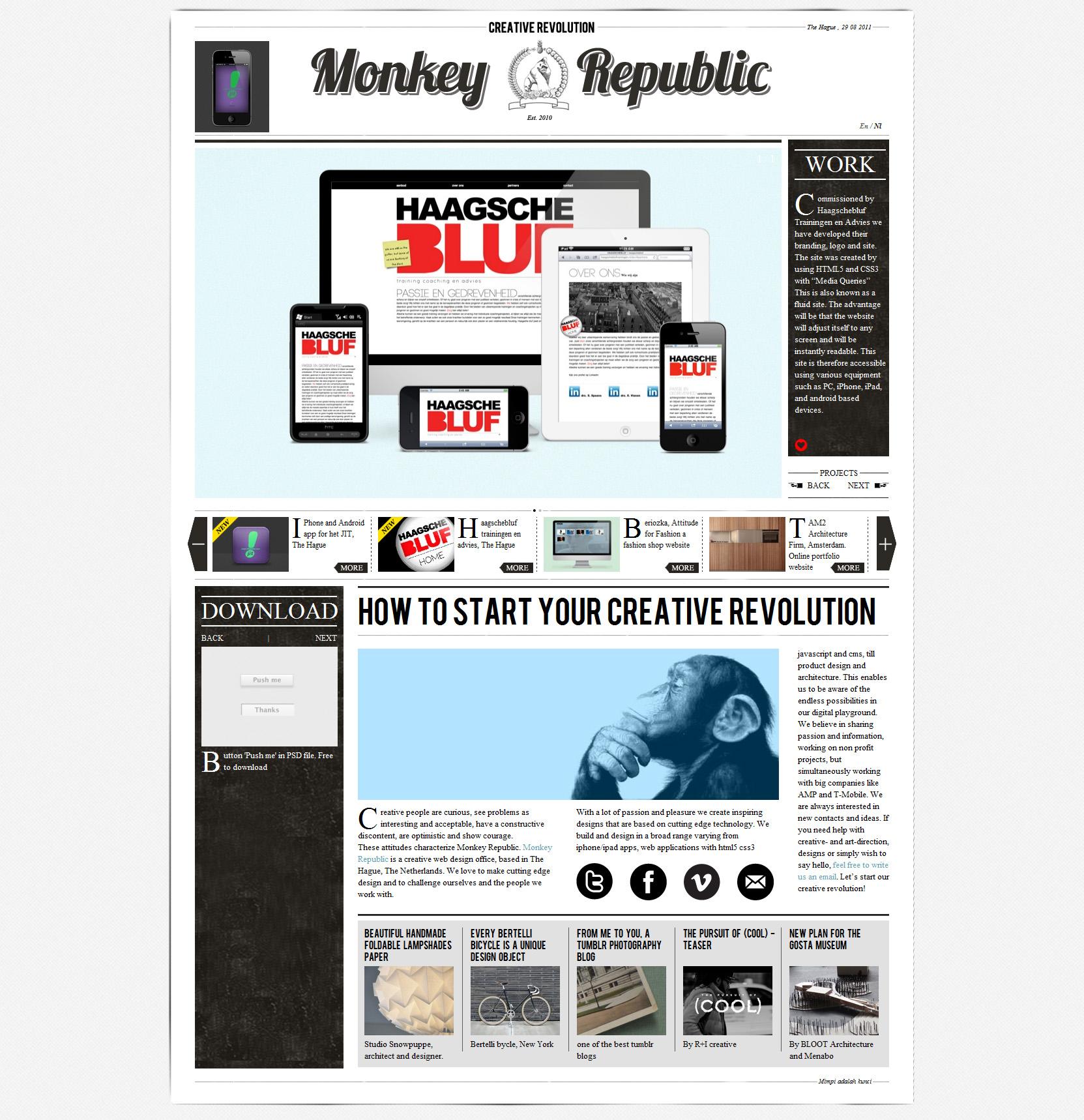 Monkey Republic Website Screenshot