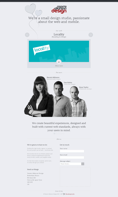 Naomi Atkinson Design Website Screenshot