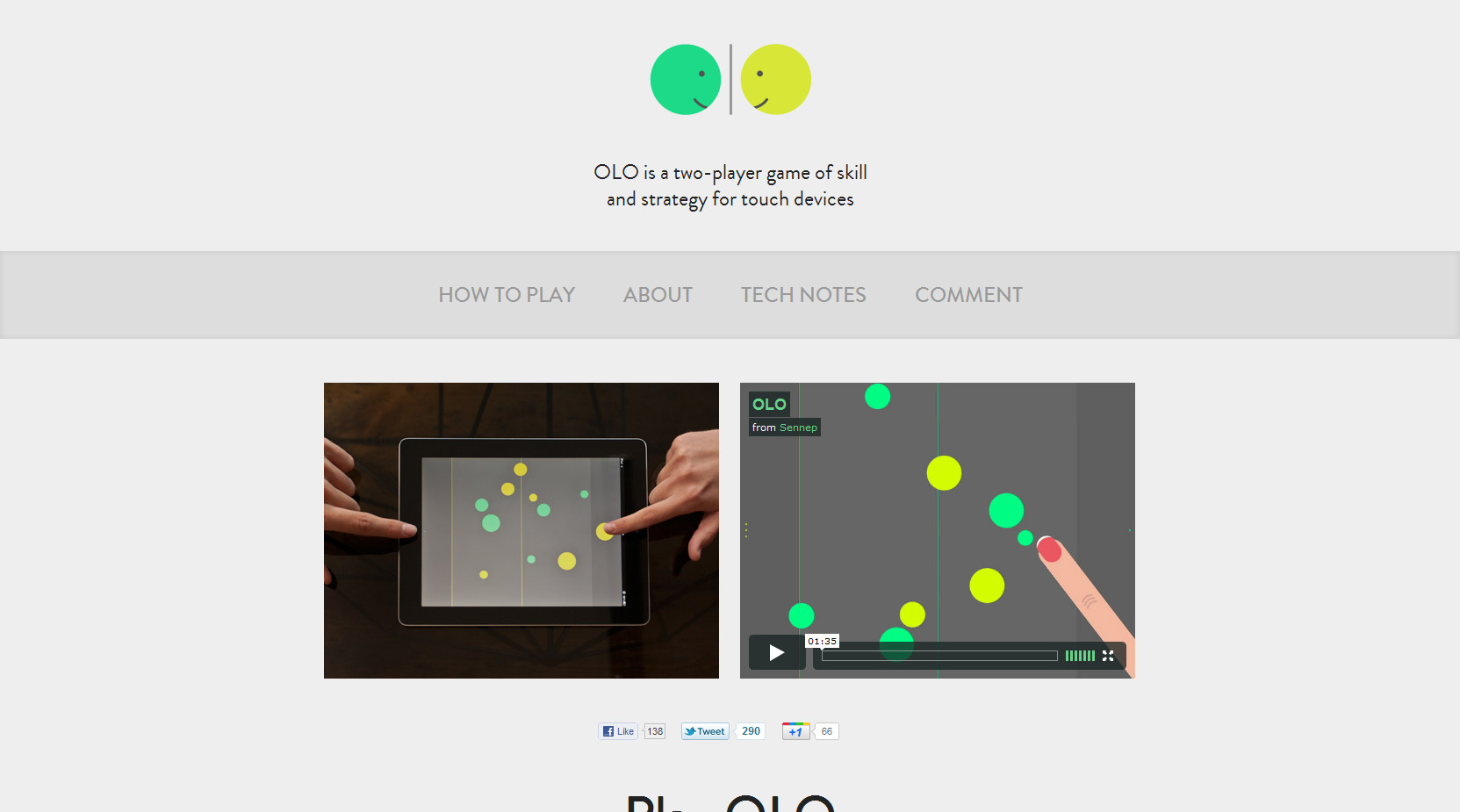 OLO Website Screenshot