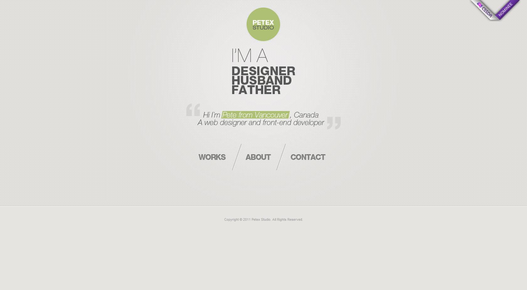 Petex Studio Website Screenshot