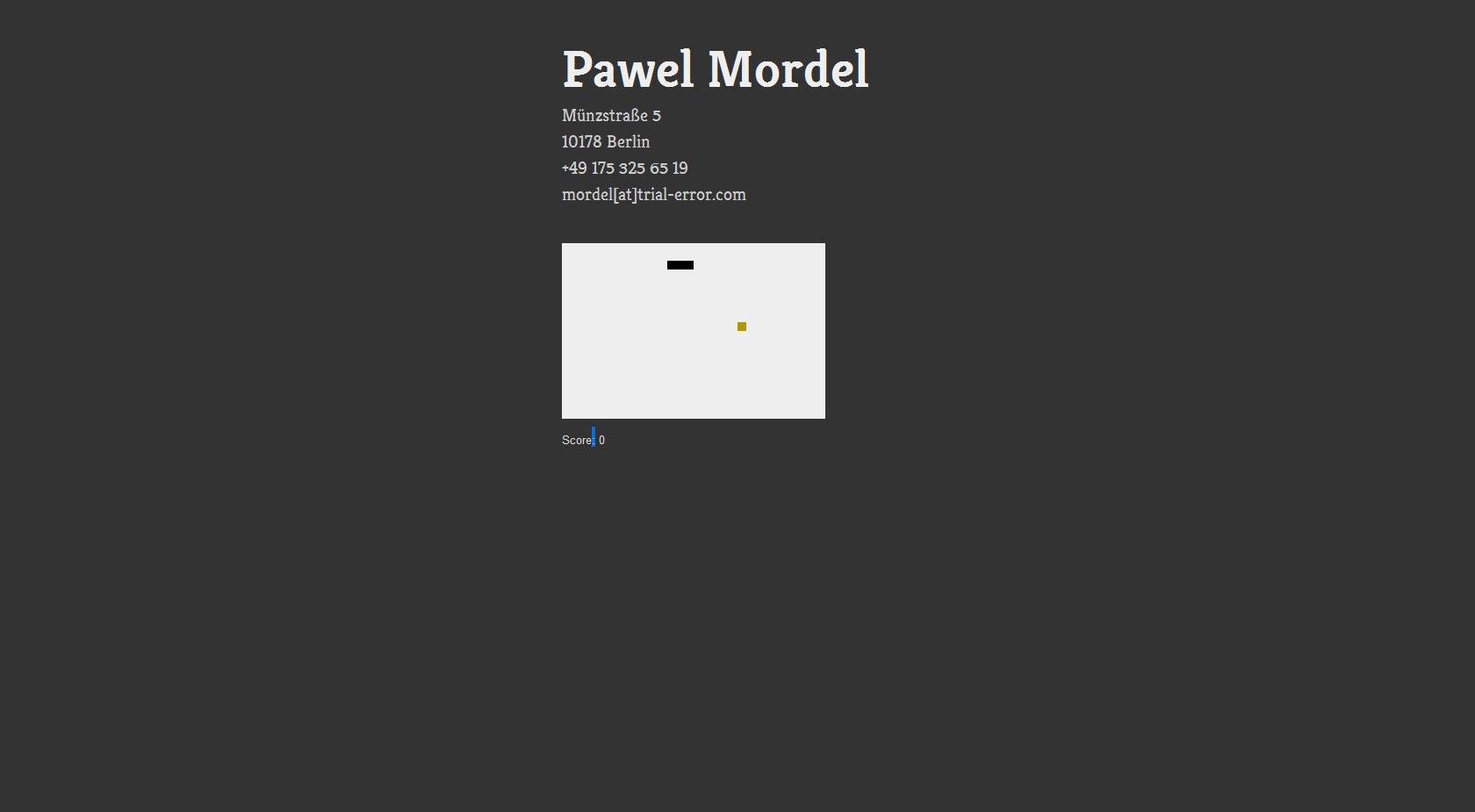 Pawel Mordel Website Screenshot