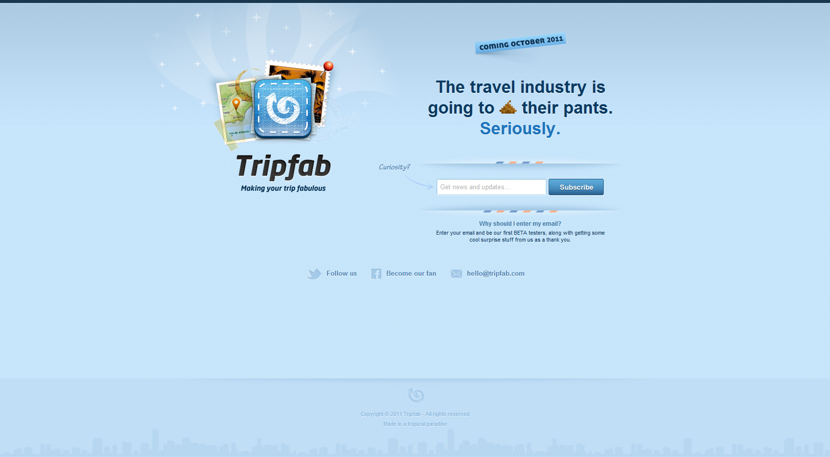 Tripfab Website Screenshot