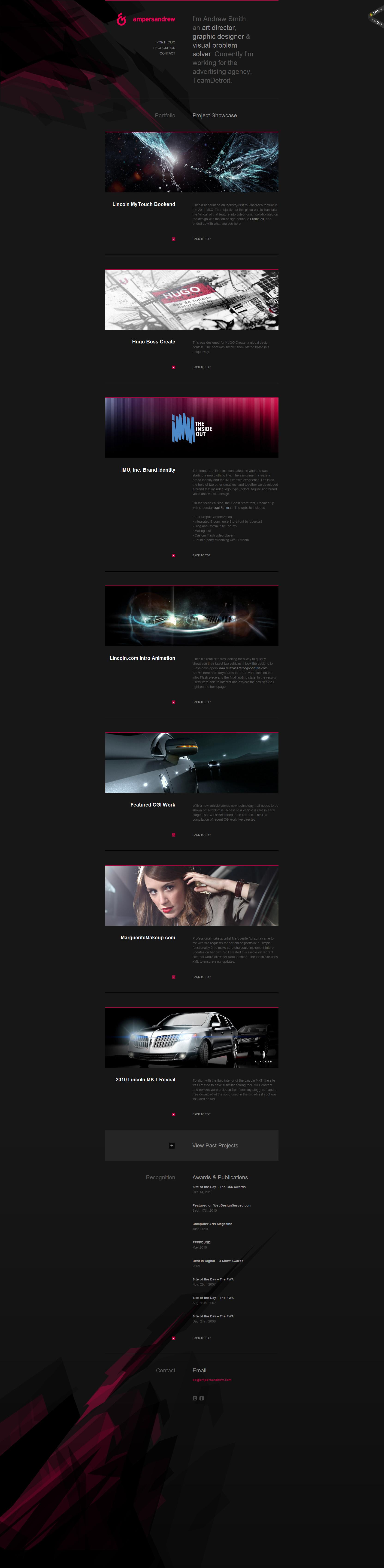 ampersandrew Website Screenshot