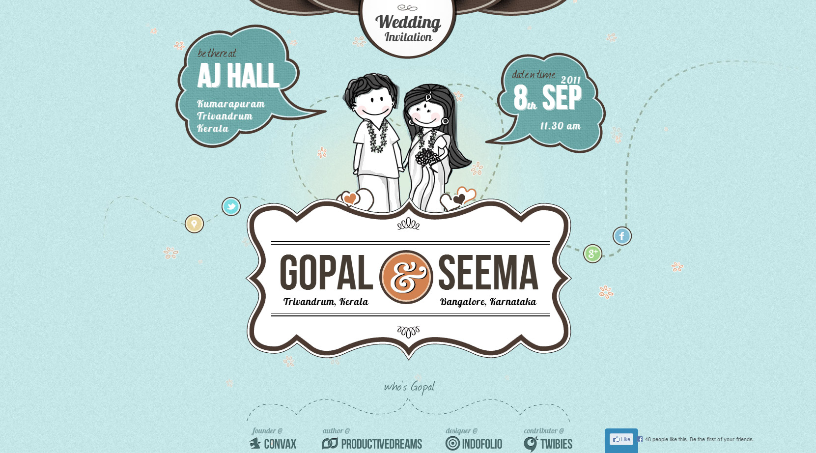 Gopal and Seema Website Screenshot