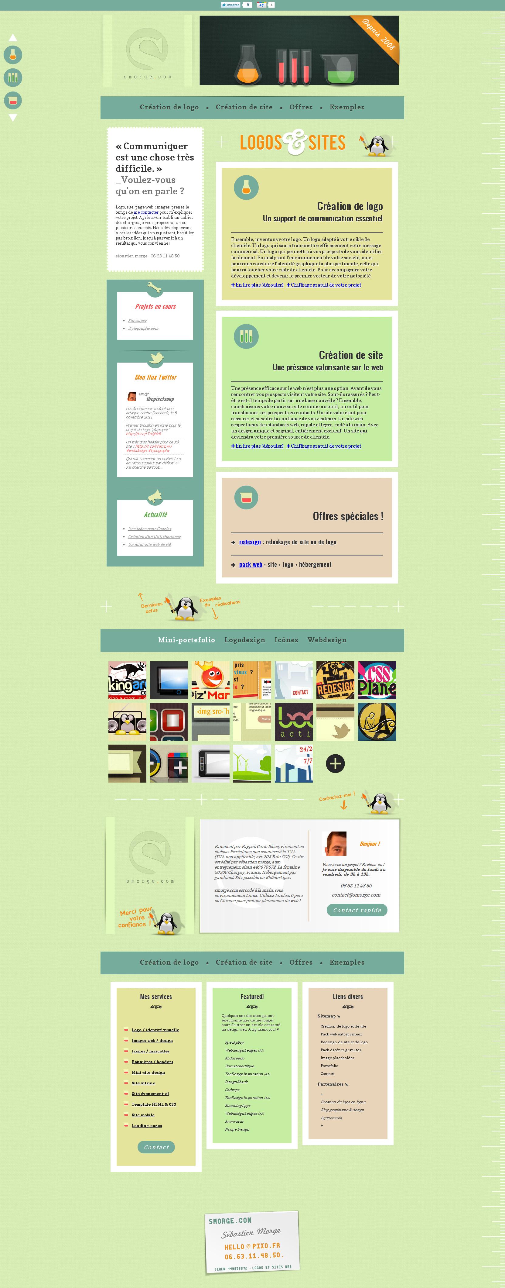 Smorge Website Screenshot