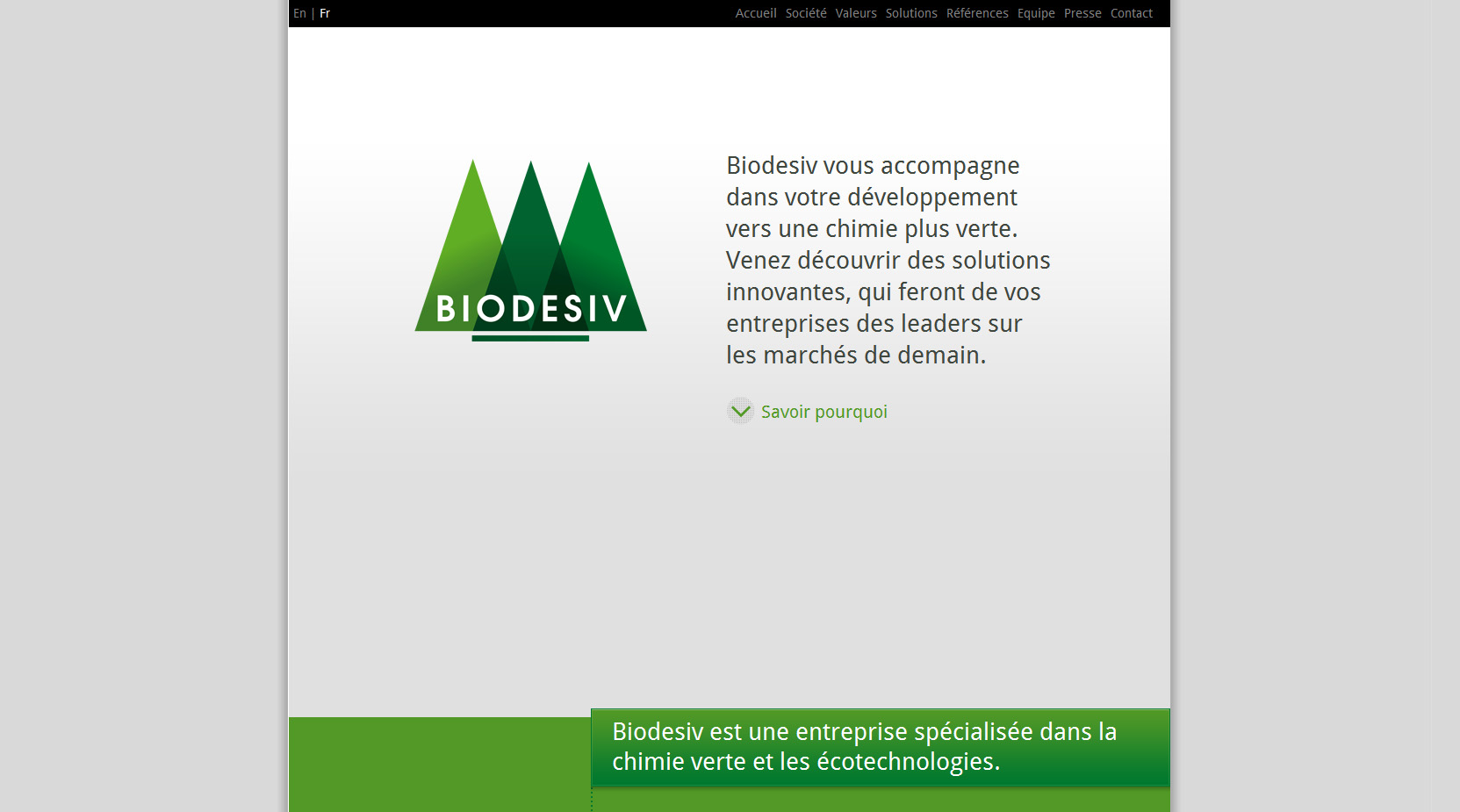 Biodesiv Website Screenshot