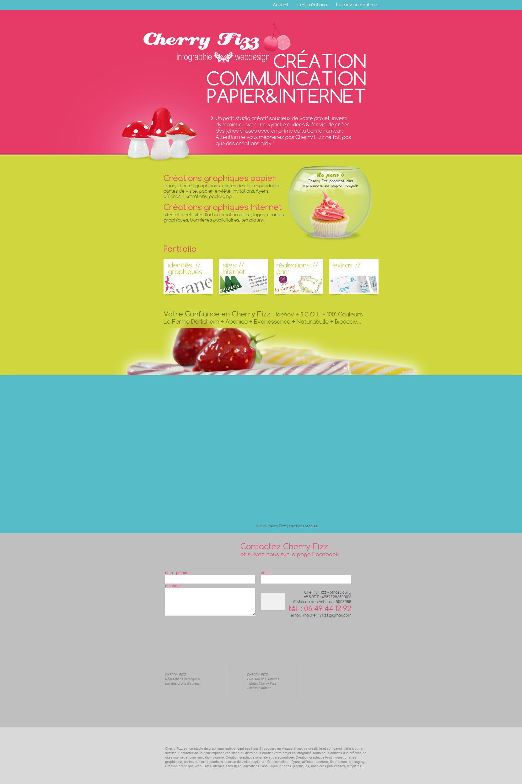 Cherryfizz Website Screenshot