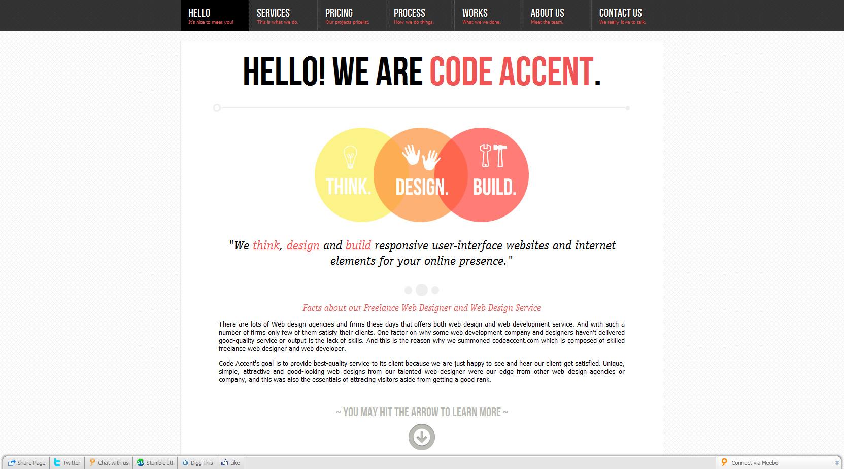 Code Accent Website Screenshot