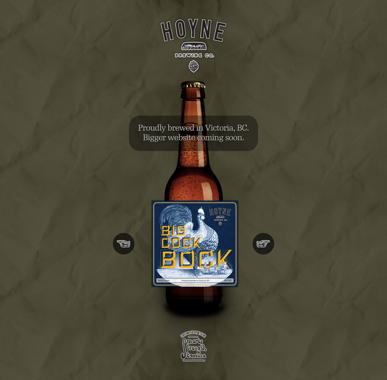 Hoyne Brewing Co. Website Screenshot