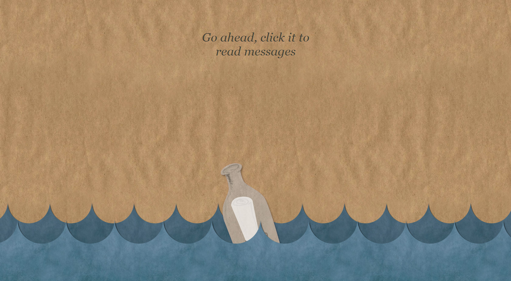 Message in a Bottle Website Screenshot