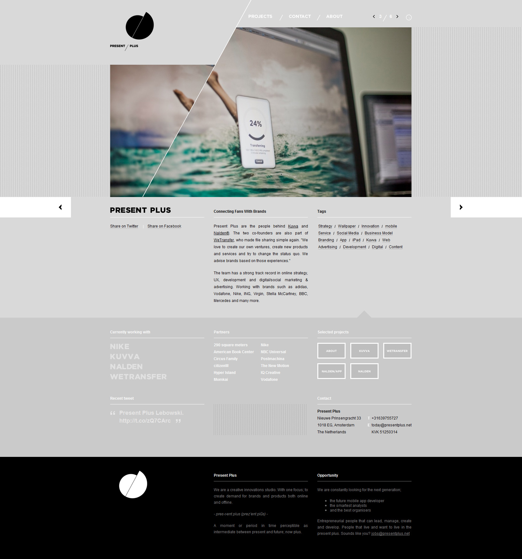 Present Plus Website Screenshot