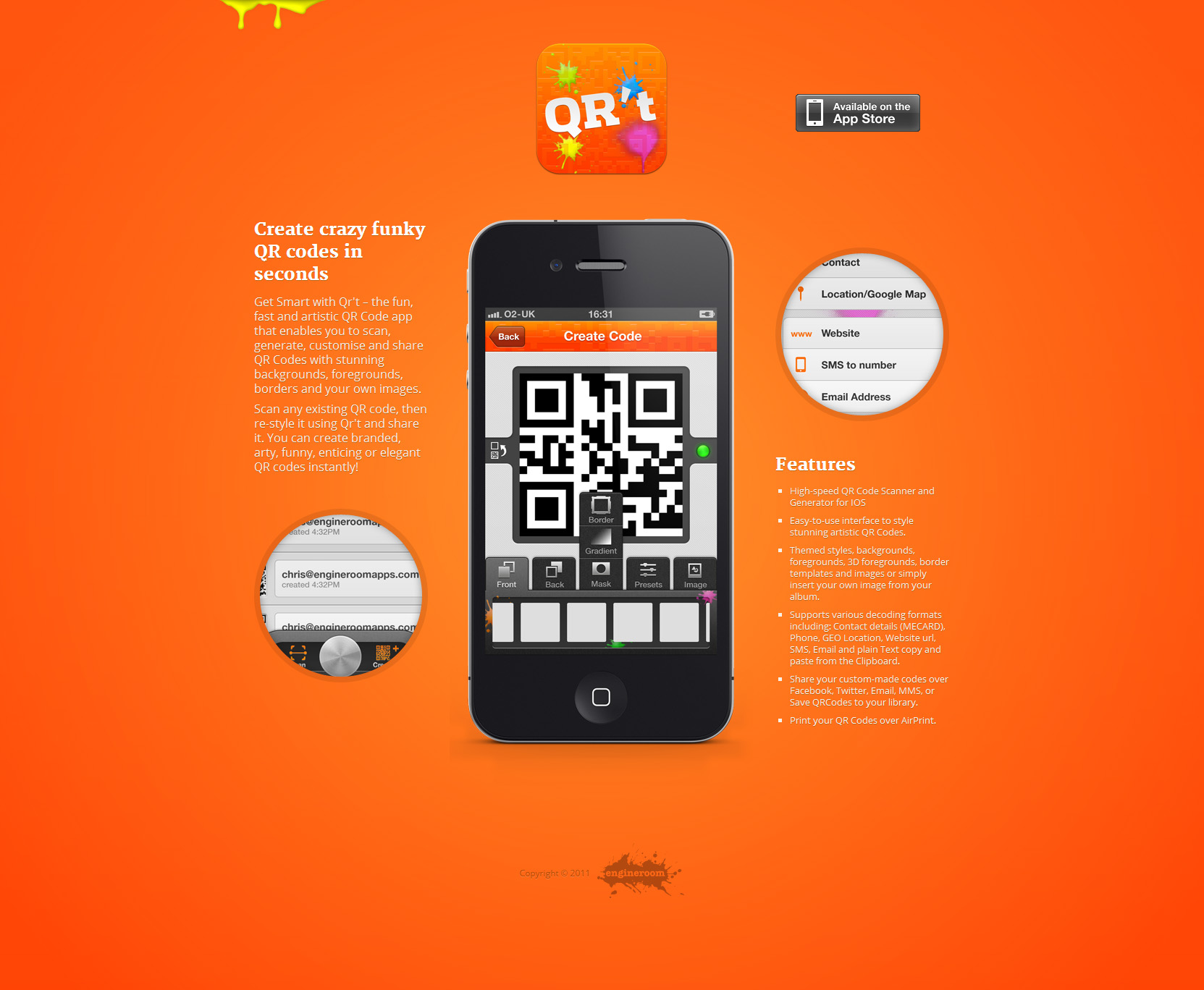 Qr't Website Screenshot
