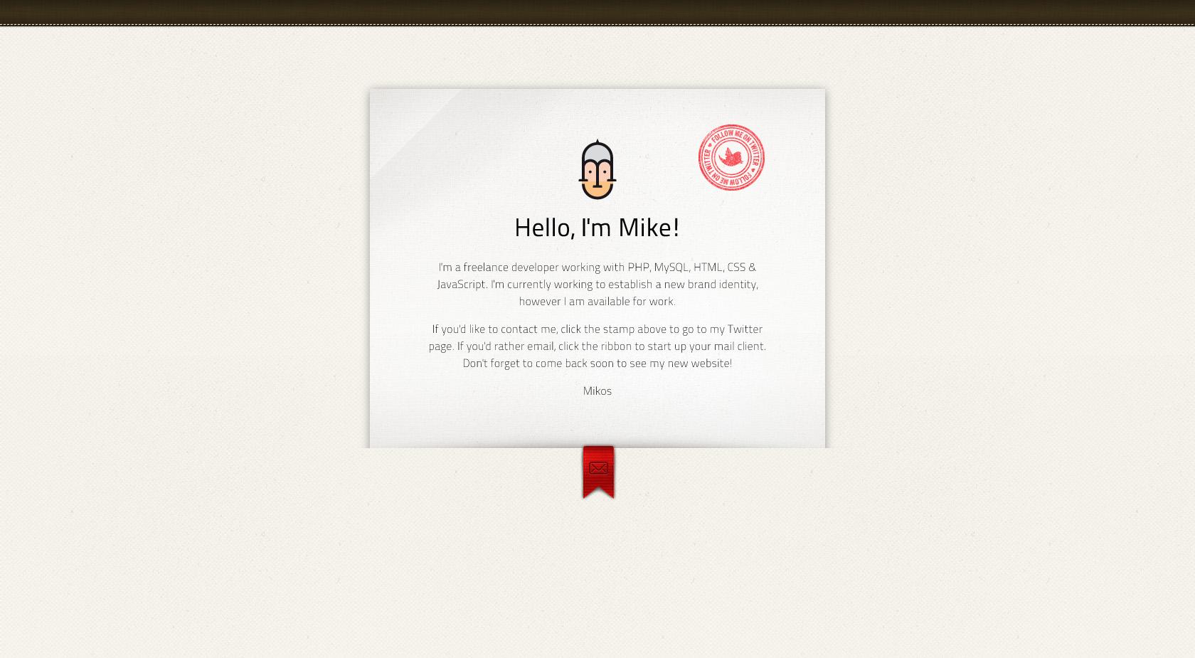 mikos Website Screenshot