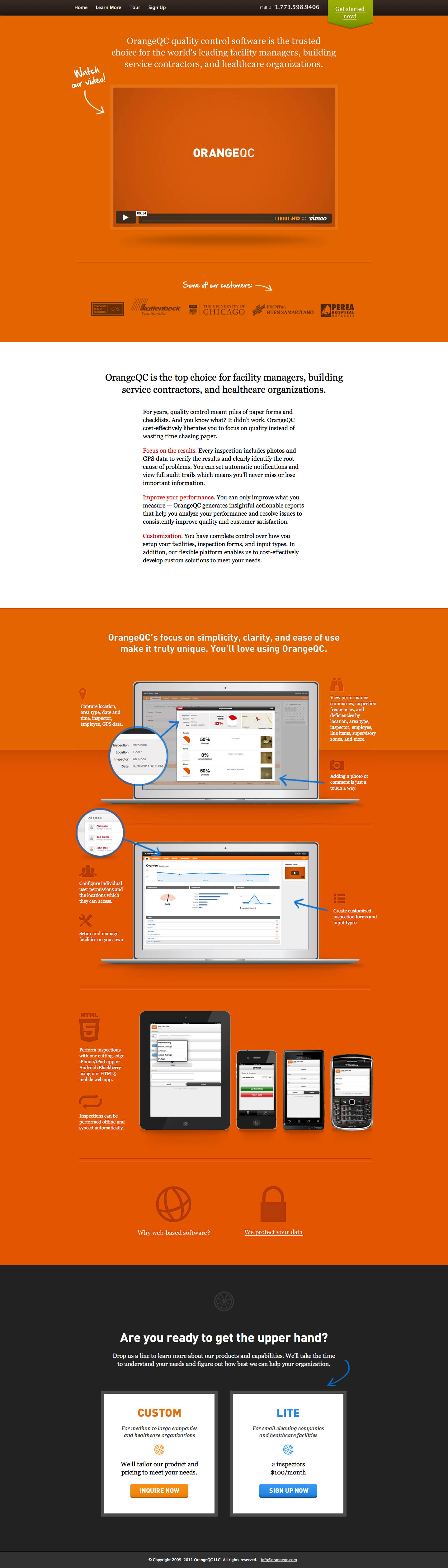 OrangeQC Website Screenshot
