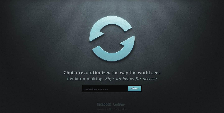 Choicr Website Screenshot