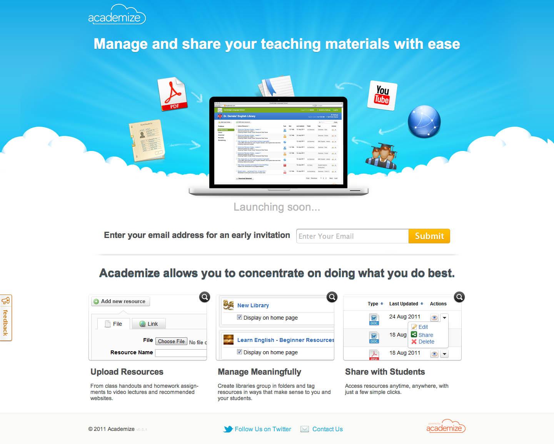 Academize Website Screenshot