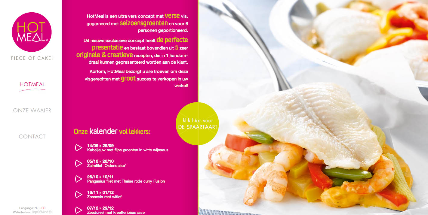 Hotmeal Website Screenshot