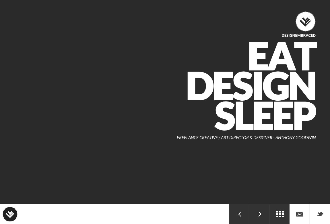 Design Embraced Website Screenshot