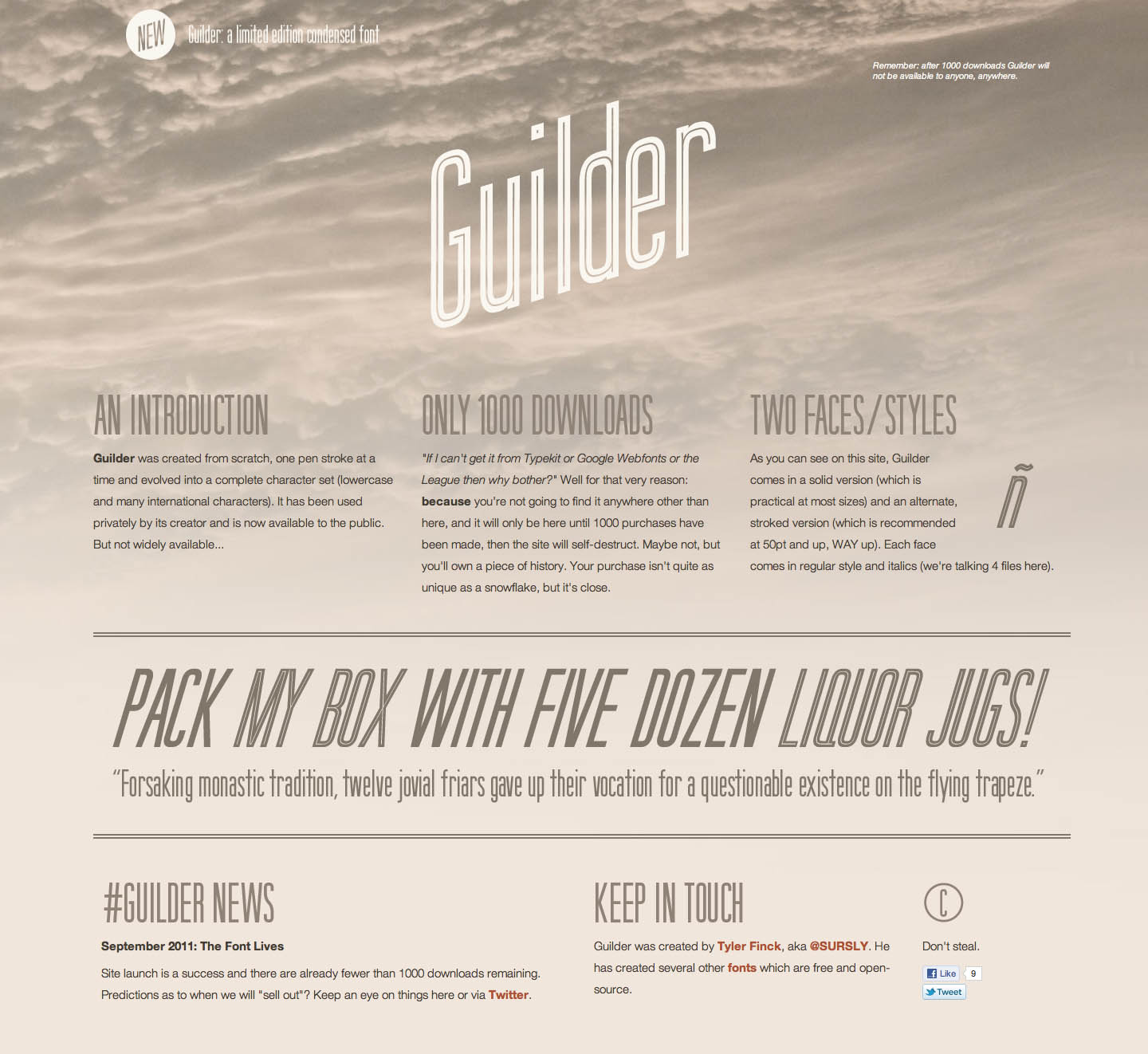 Guilder Website Screenshot