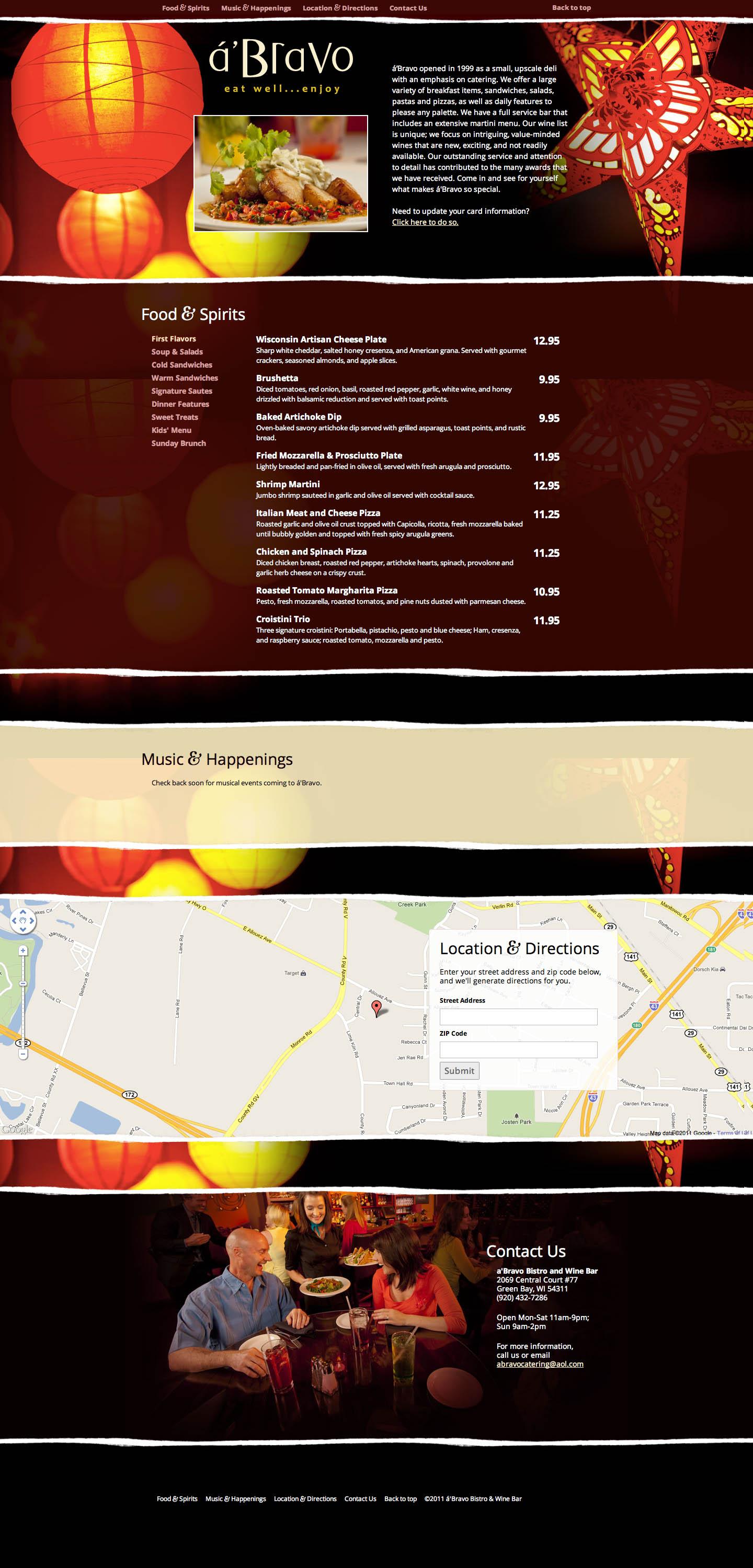 a'Bravo Website Screenshot
