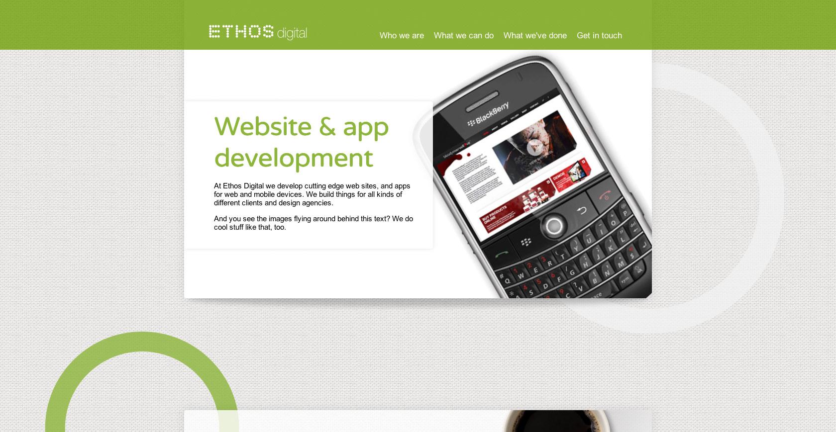 Ethos Digital Website Screenshot