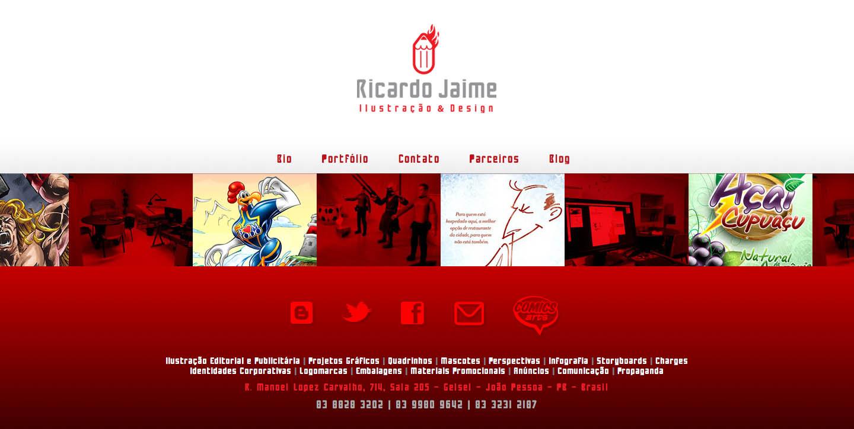 Ricardo Jaime Website Screenshot