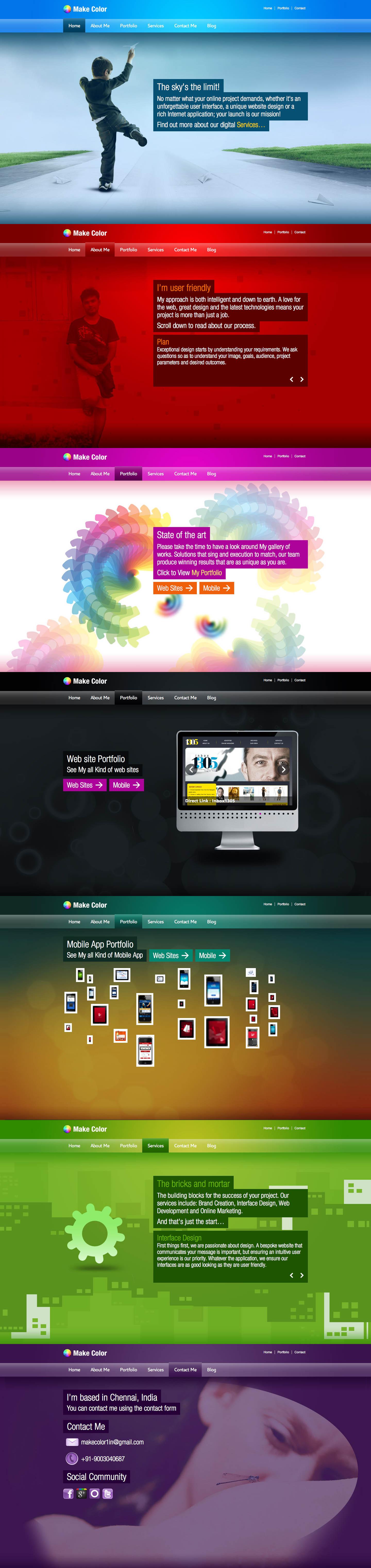 MakeColor Website Screenshot