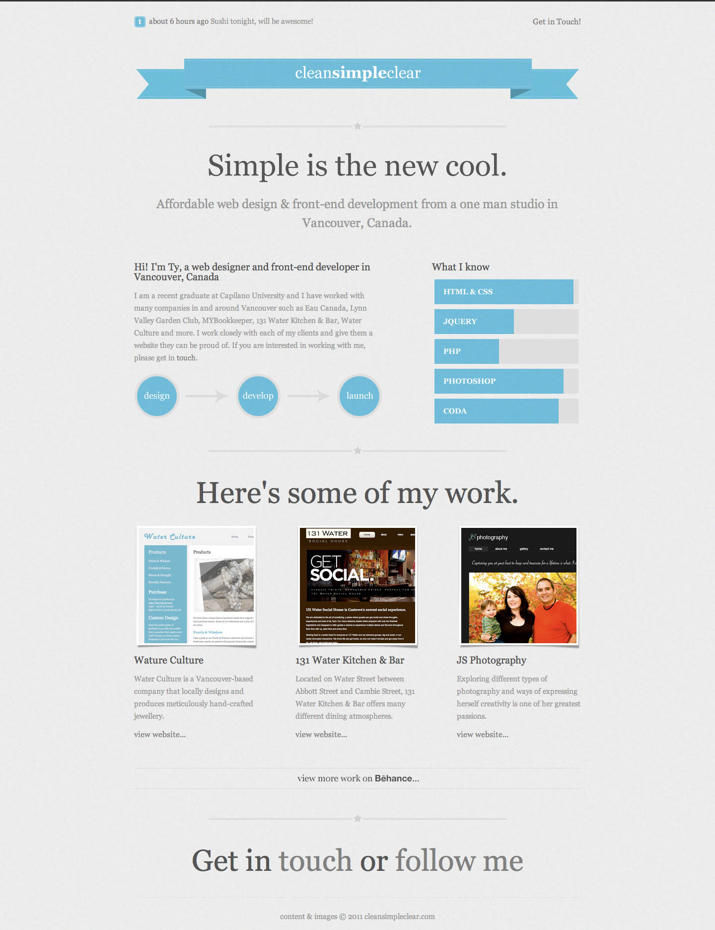 Clean Simple Clear Website Screenshot