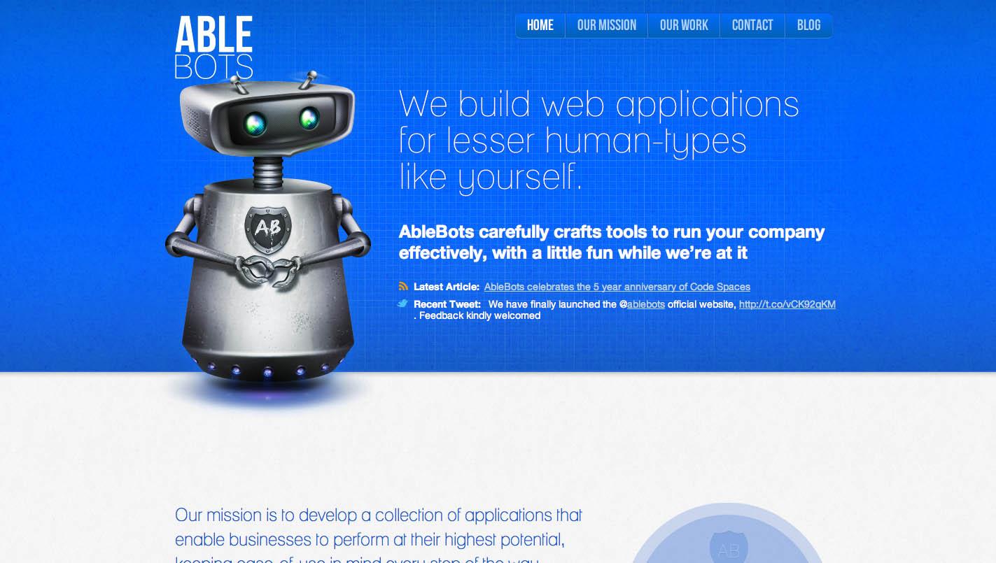 AbleBots Website Screenshot