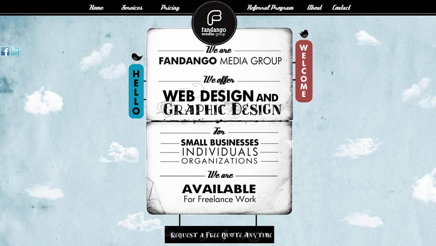 Fandango Media Group Website Screenshot