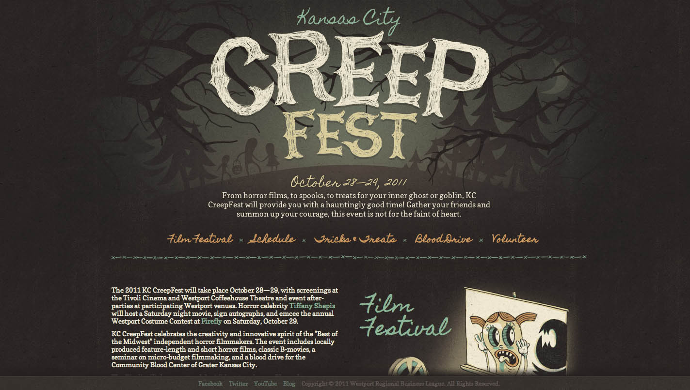 Kansas City CreepFest Website Screenshot