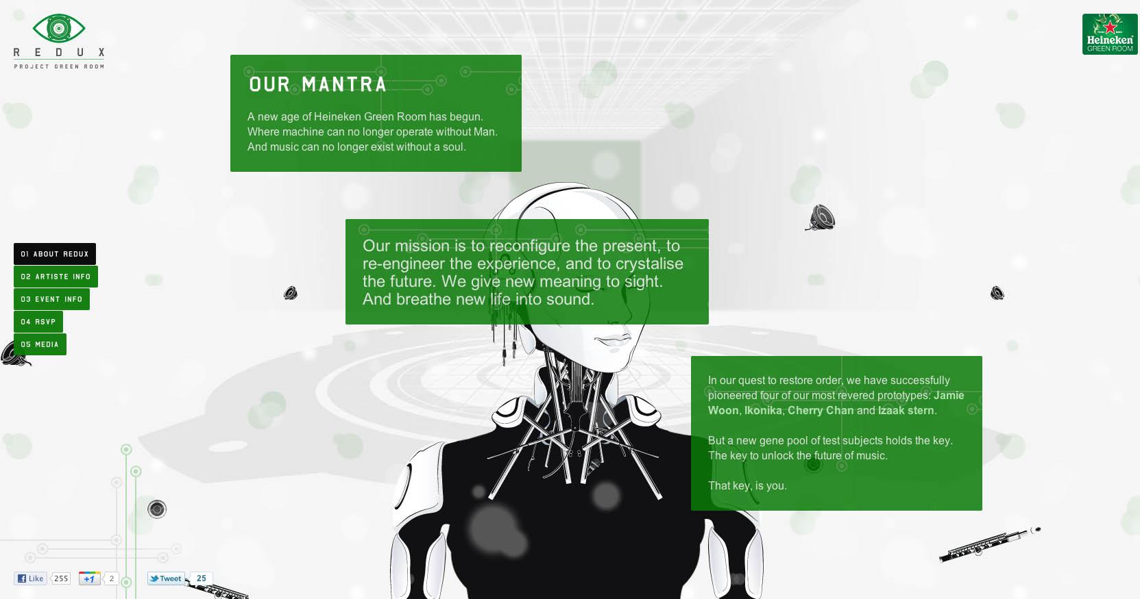 Redux: Project Green Room Website Screenshot