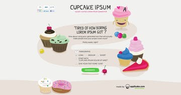 Cupcake Ipsum Thumbnail Preview