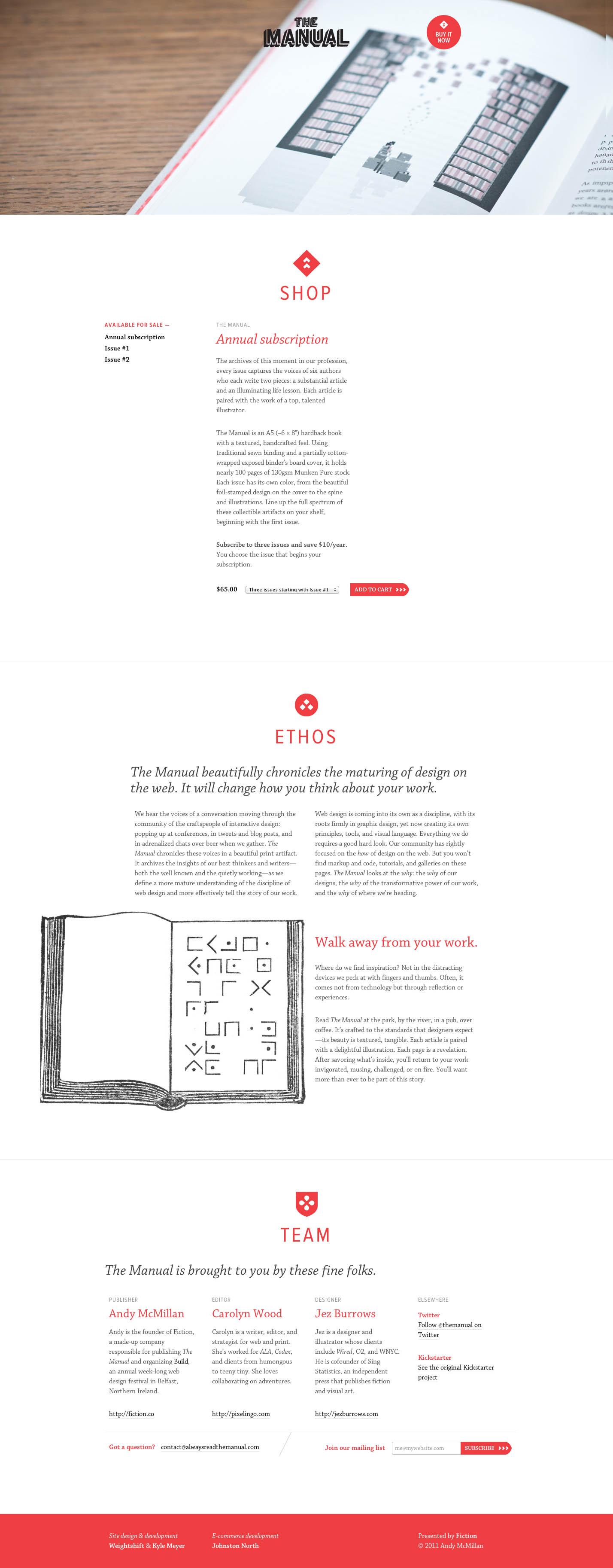 The Manual Website Screenshot