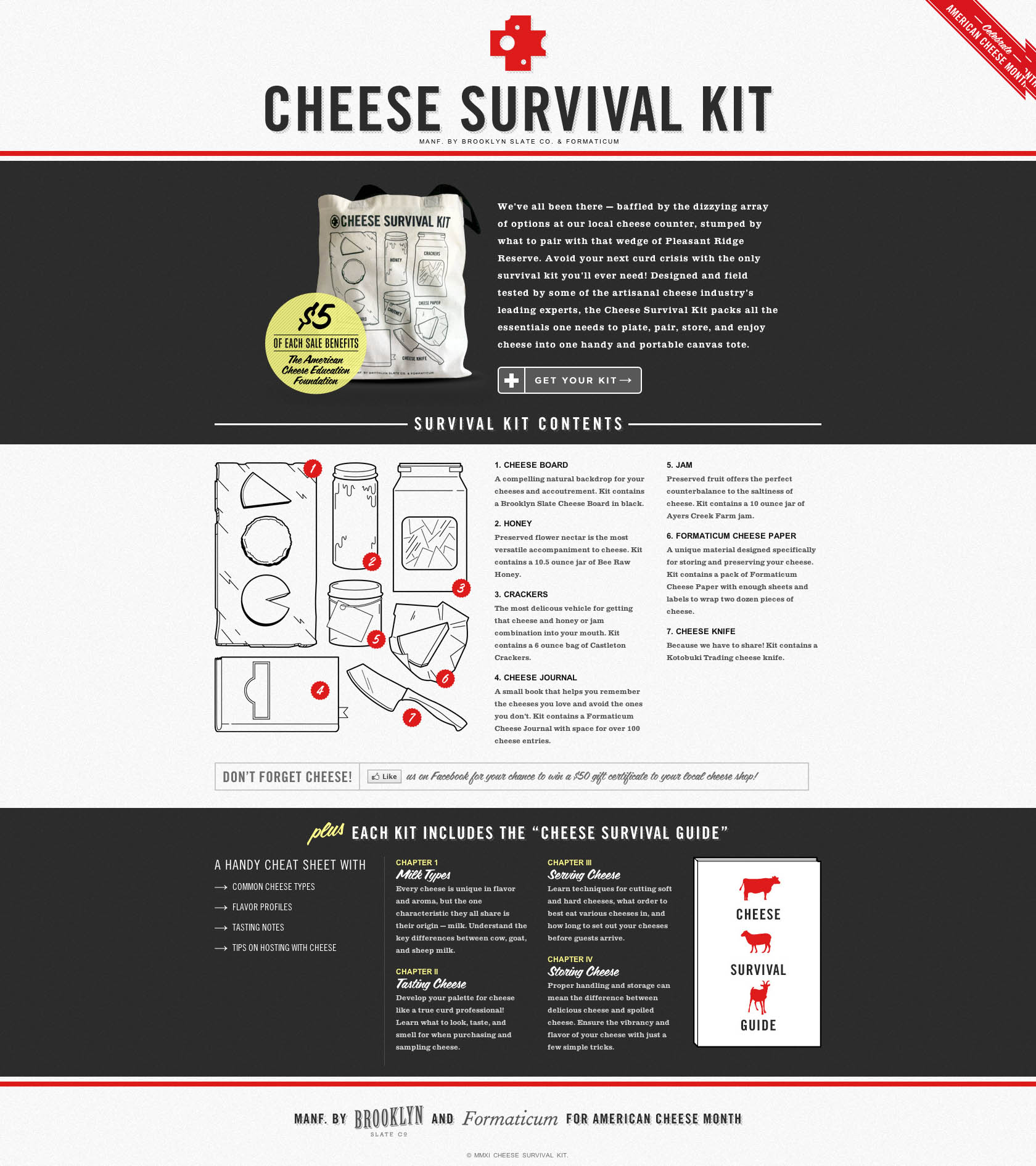 Cheese Survival Kit Website Screenshot